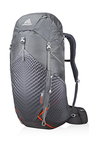 Gregory Mountain Products Men's Optic 58 Liter Backpack, Lava Grey, Medium