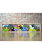 BeginAgain Animal Parade A to Z Puzzle and Playset - Educational Wooden Alphabet Puzzle - 2 and Up