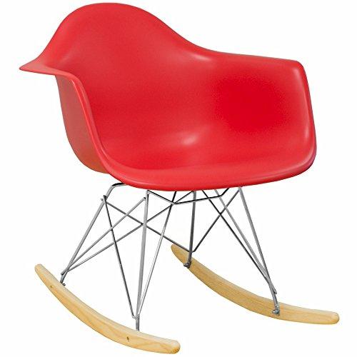 Mod Made Mid Century Modern Paris Tower Rocker Rocking Chair, Black MM-PC-018R-Black