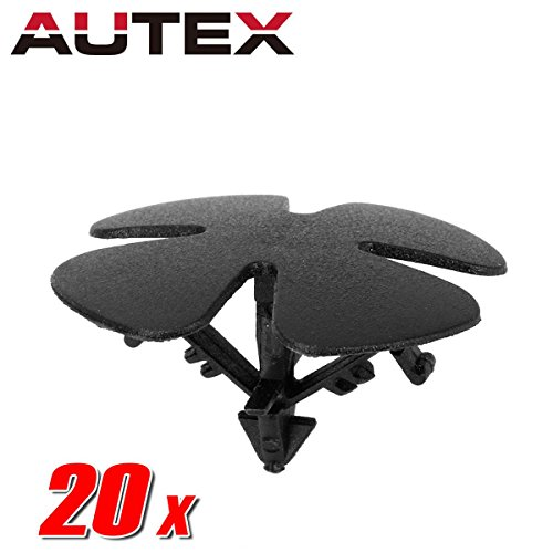 AUTEX 20pcs Fender Liner Fastener Rivet Push Clips Retainer Nut Replacement For Honda Accord Civic CR-V Crosstour HR-V Insight Replacement For Acura ILX Hybrid RDX RLX