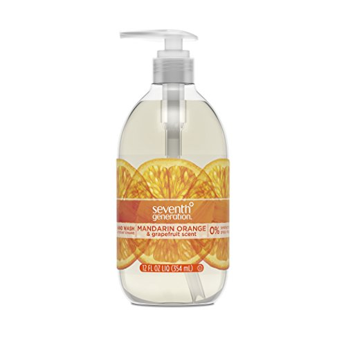 Seventh Generation Hand Wash Soap, Mandarin Orange & Grapefruit, 12 Fl Oz, (Pack of 8)