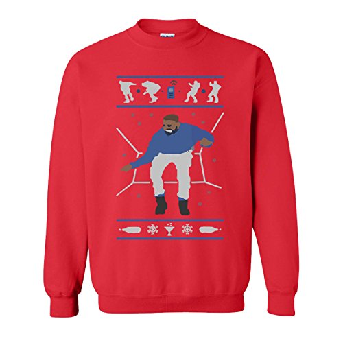 Hotline Bling Drake Popular Falcon's Sweatshirts for Women and Men (Red, X-Large) ()
