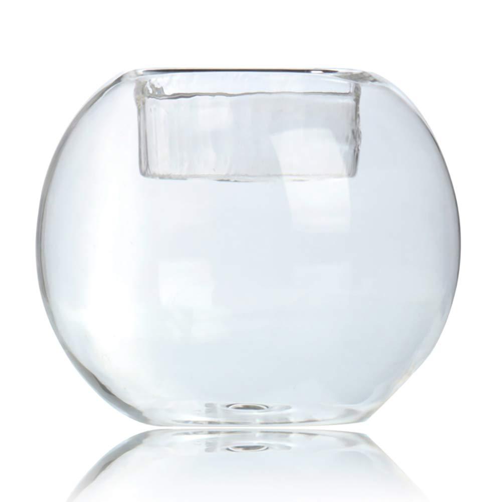 Rocita Portavelas Redondo de Cristal Resistente al Calor (diámetro de 3 Pulgadas)