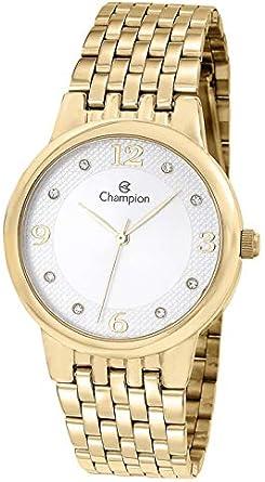 Kit, Relógio Analógico, Champion, Mais semi-jóia, Feminino, CN24146W, Dourado