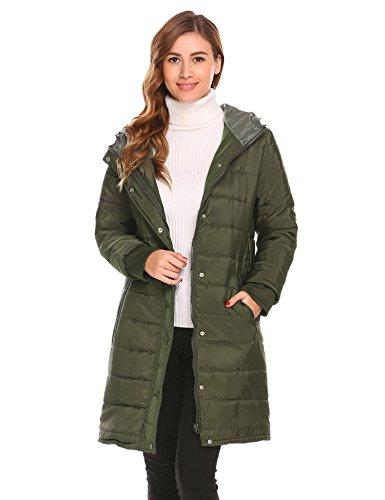 Verde Onbay para mujer Abrigo Onbay para Verde Abrigo mujer fqwOvdS