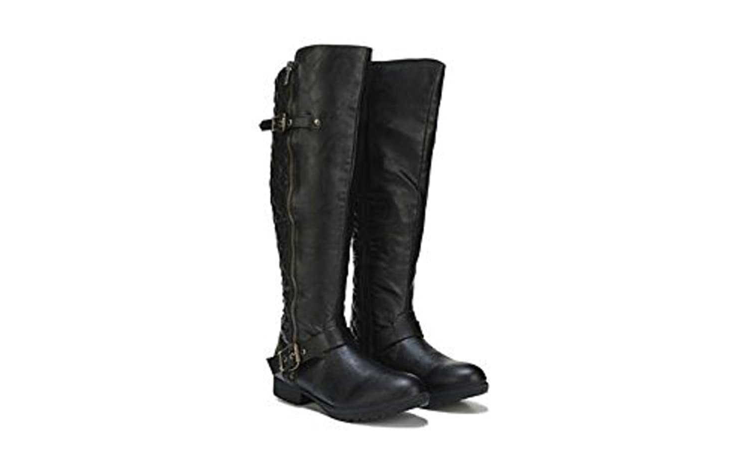 Steve Madden Questa Women's Quilted Black Motorcycle Boot