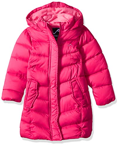 Vertical '9 Girls' Little Fashion Quilted Bubble Jacket, Fuchsia, ()