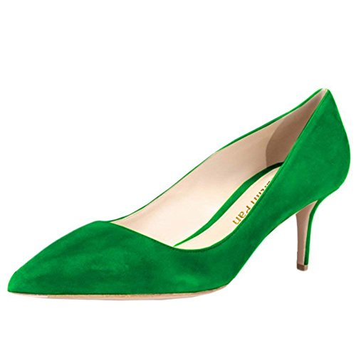 Punta Ciata Verni Rossa Lavoro Party Pompe Dress Camoscio suola Verde Scarpe Pan Donna Pelle Heel Caitlin 65mm Da A Kitten qIvBBwRz