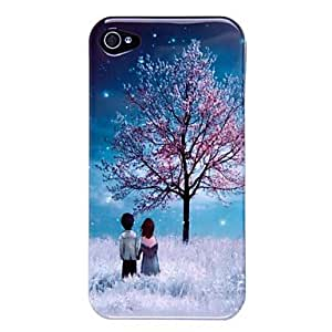 LZXLention Happy Lovers PC Hard Case for iPhone 4/4S