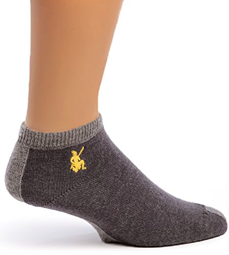 Wool Anklet - Warrior Alpaca Socks - Women's Sport Light Mini Crew, Alpaca Wool Socks (Cinder, Gray Stripe L)