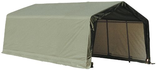 Cheap ShelterLogic Garage 15 x 28 x 12  Peak Standard Green
