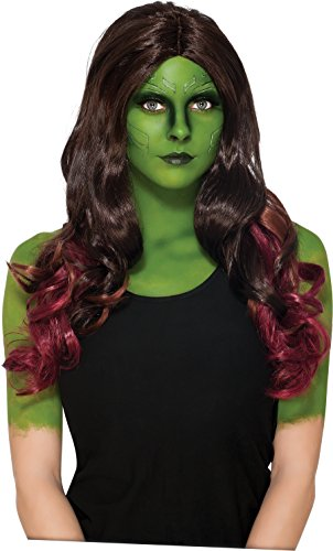 Gamora Costume (Secret Wishes Women's Guardians of the Galaxy Gamora Costume, Gotg Vol. 2, Wig)