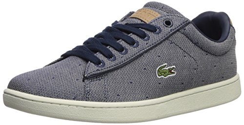 Lacoste Women's Carnaby Evo Sneaker, Navy Denim, 6.5 Medium US
