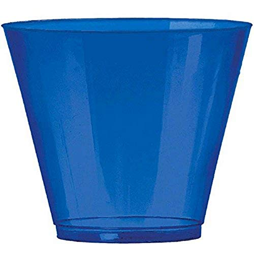 Big Party Pack Bright Royal Blue Plastic Cups | 9 oz. | Pack of 72 | Party Supply