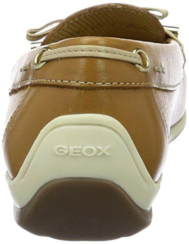 Geox D Yuki a, Mocasines para Mujer Beige (BISCUITC5046)