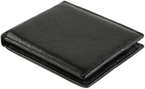 HZman Genuine Leather Bifold Wallets for mens,Top Cowhide leather,Black or Brown