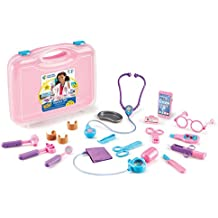 Learning Resources Pretend & Play Doctor Kit for Kids, 19 Piece set, Pink