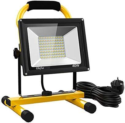 Olafus 40W Foco LED Trabajo 4000LM, Equivalente a 260W Halógeno ...