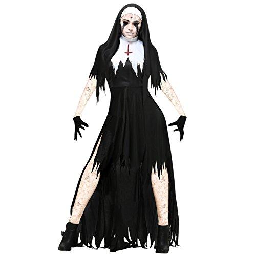 Evelin LEE Women Dreadful Halloween Nun Costume Cosplay