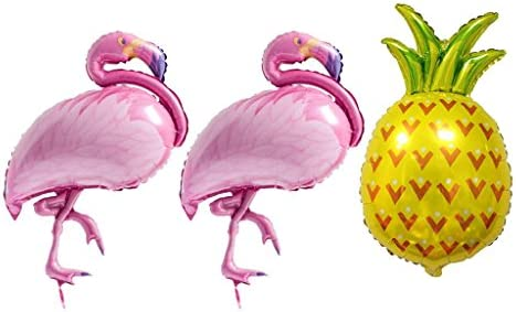 3本セット バルーン 風船 可愛い フラミンゴ パイナップル フォイルバルーン ハワイ パーティー