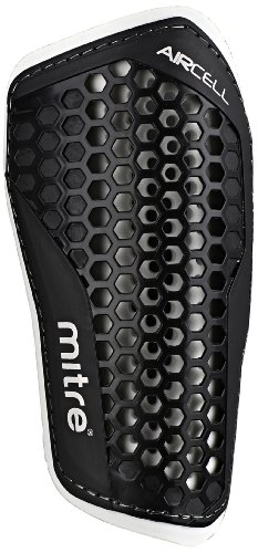 Mitre Aircell Speed Slip Football Shinguard - Black/White, X-Small