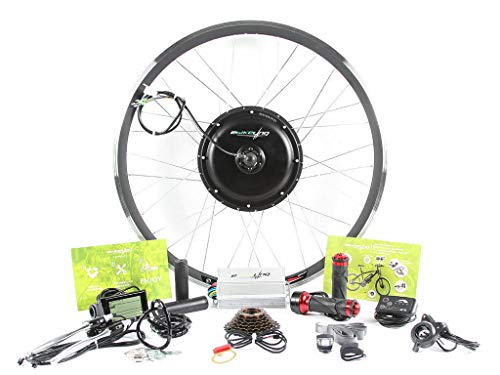 "EBIKELING 48V 1500W 26"" 700c Direct Drive Rear Electric Bicycle Conversion Kit (700C/LED/Thumb)"
