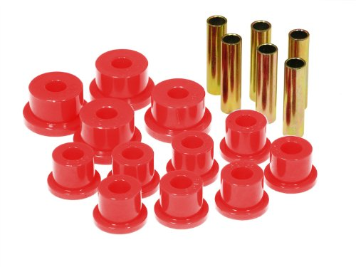 (Prothane 17-1002 Red Spring Eye and Aftermarket Shackle Bushing Kit )