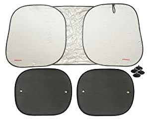Hercules Brand Pop-up Style Round Sun Shade - Car and SUV - Includes 2 Bonus Shades for Windows
