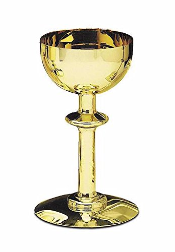 Artistic Manufacturing 102581 Communion - Chalice - Solid Brass & Gold Lined With Round Base