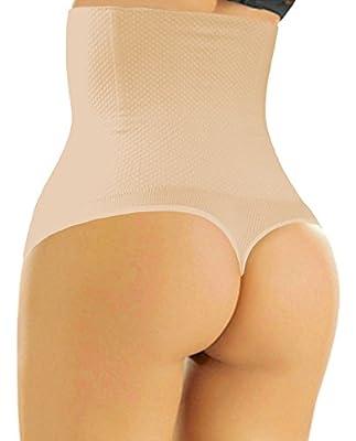 Sweet Cherry 510 Thong - Women Hight Waist Cincher Girdle Tummy Belly Slimmer Thong Panty Shapewear