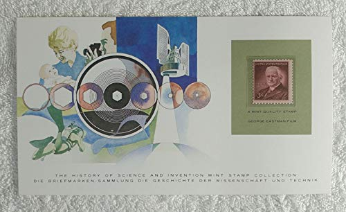 George Eastman - Postage Stamp (United States, 1954) & Art Panel - The History of Science & Invention - Franklin Mint (Limited Edition, 1986) - Film, Photography, Camera, Kodak