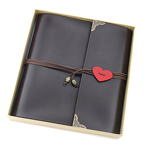 "Scrapbook Album, ""Love"" Vintage Leather Photo Album, Black Pages Memory Book with Scrapbooking Supplies and Storage Box, Birthday Wedding Anniversary Gift for Dad Mom Men Women Couple Girl Boy, (Anniversary Scrapbooking)"