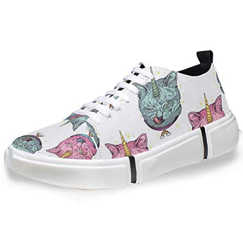 MONTOJ Men Shoes Evil Cat Unicorn Pattern Men's Casual Sneaker