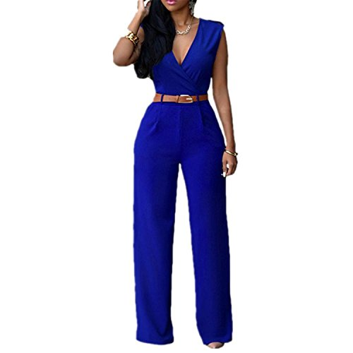 Used, Rankei V Collar Women Chiffon Pants Women Trousers,XX-Large,Blue for sale  Delivered anywhere in USA