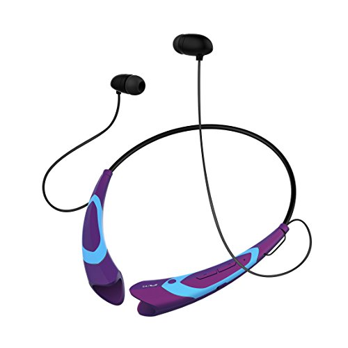 Wireless Bluetooth 4.1 Music Stereo Sports/Running Neckband Style Headset for Cellphone Orchid