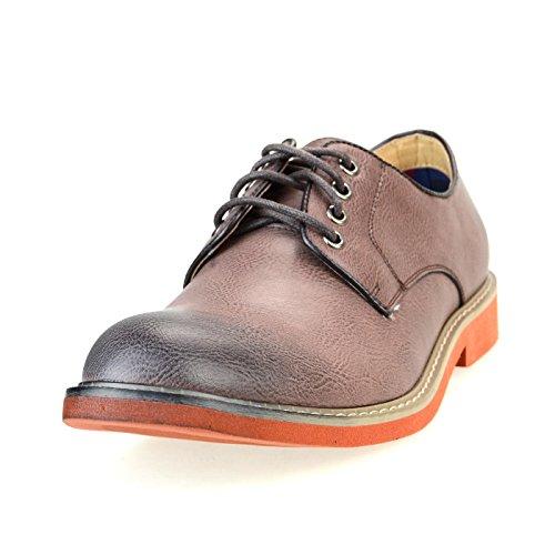 O-NINE Men's Lace-up Derby Shoes, Dark Brown Smooth, 44 EU (US Men's 10.5 M)