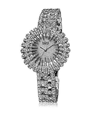 Burgi Women's Dazzling Crystal Silvertone Quartz Watch - Silvertone