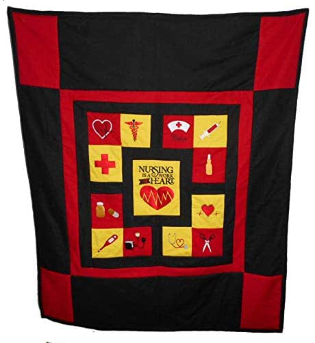 Amazon Com Embroidered Nursing Is A Work Of Heart