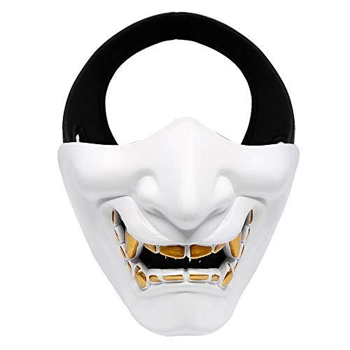 FOONEE Half Face Mask, Halloween Costume Cosplay BB