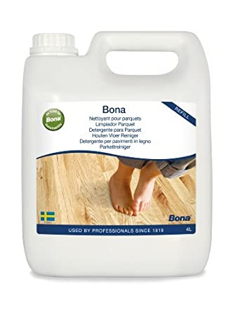 Amazon Bona Parquet Hardwood Floor Cleaning Liquid Refill 4l