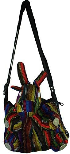 Guatemalan Shoulder Bag - Jiraffe Handmade Mayan Tejido Shoulder Bag With Guatemalan Coins