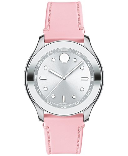 Movado Women's Swiss Bold Blush Silicone Strap Watch 38mm 3600414