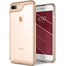 Caseology Skyfall Series iPhone 8 Plus / 7 Plus Cover Case with Clear Slim Protective for Apple iPhone 8 Plus (2017) / iPhone 7 Plus (2016) - Gold