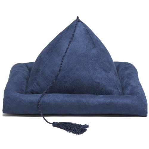 Hog Wild Peeramid Bookrest, Navy Blue (62003) (Reading Pyramid Pillows For)