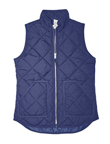 J Crew Puffer (J Crew Factory - Women's Quilted Puffer Vest (XX-Small, Navy Blue))