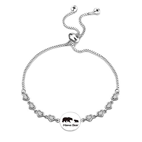 EIGSO Mama Bear Bracelet Sweet Family Bear Baby Bear Chain Bracelet Jewelry Gift for Mothers Wife Family (1 cub BR) ()