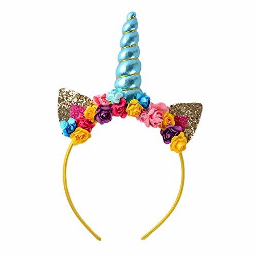 Blue Magical Unicorn Horn Party Kid Hair Headband Dress Cosplay Decorative ()
