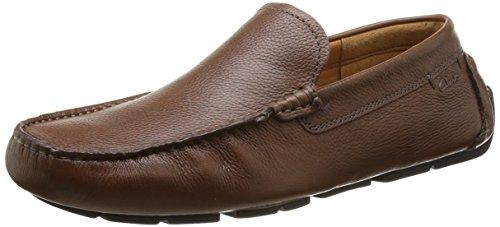 Clarks Davont Drive - Zapatillas de casa de cuero hombre Marrón (Tan Interest Lea)