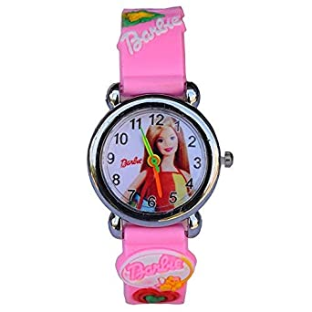 Nubela New Barbie Girl Assorted Colour Analogue One Watch for Kids