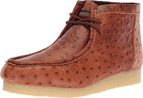 ROPER Men's Gum Sticker Ostrich Cognac Embossed Ostrich 8.5 D US
